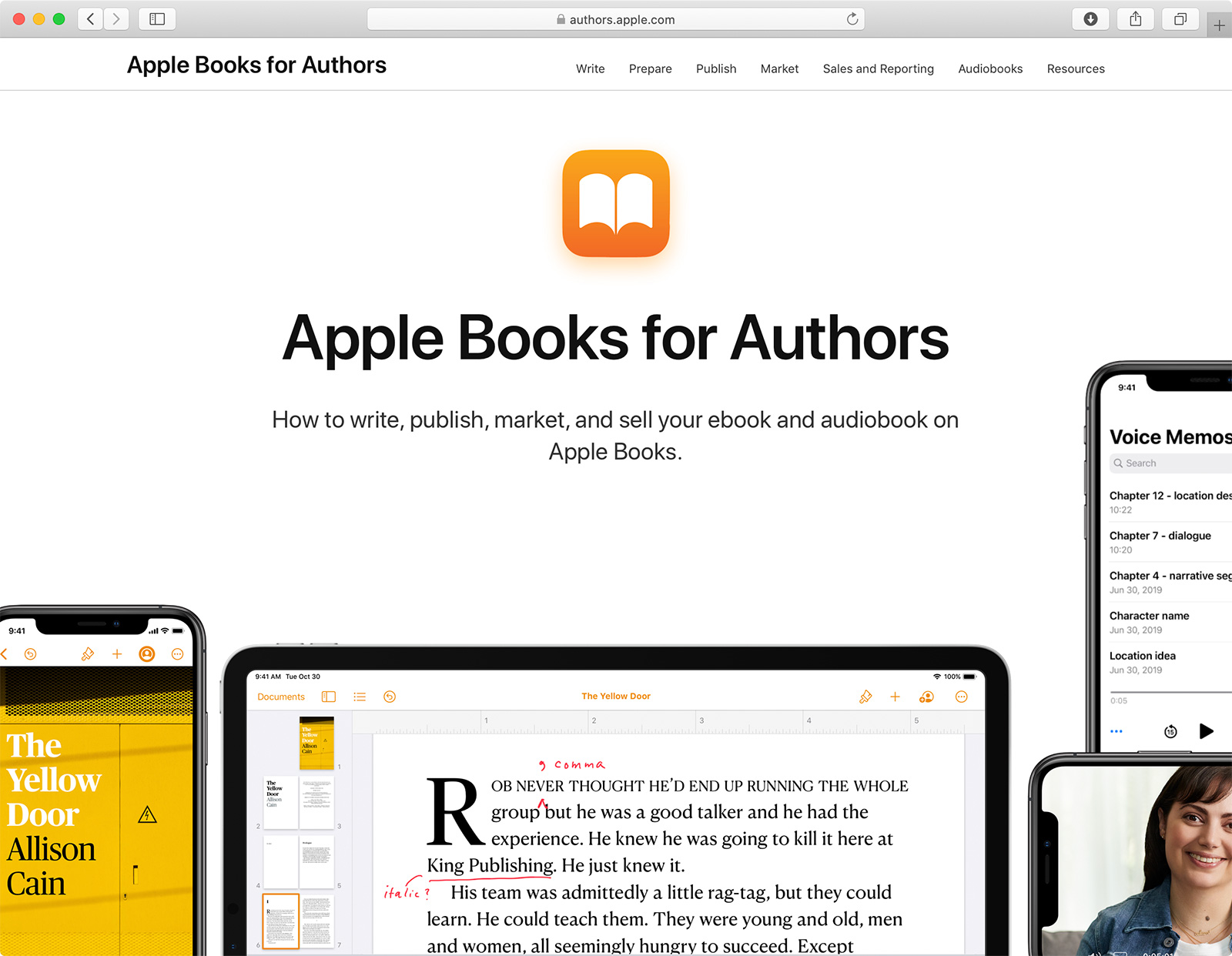 Apple Books for Authors home page.